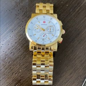 Michele Gold Tone Sport Sail Stainless Watch